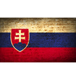 Flags Slovakia with dirty paper texture vector image