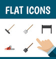 flat icon dacha set of hacksaw barbecue shovel vector image vector image