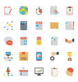 flat icons of project management vector image vector image