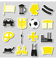 germany country theme symbols stickers set eps10 vector image vector image
