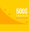 gift voucher template design collection vector image
