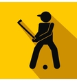 Golfer silhouette flat icon vector image vector image