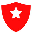 guard shield flat icon symbol vector image