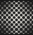 halftone circles seamless pattern geometric vector image vector image