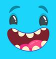 halloween blue smiling monster avatar