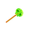halloween treat lollipop in shape skull 3d icon vector image