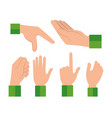 hands human language signs vector image