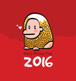 Happy Monkey Year 2016 Card vector image vector image