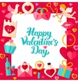 happy valentine day paper template vector image vector image