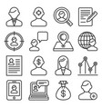 headhunting related icons set on white background vector image vector image