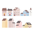 houses home building tower residential commercial vector image