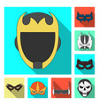 isolated object of hero and mask sign collection vector image