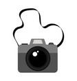 isolated photo camera icon vector image vector image