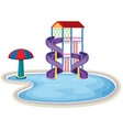 isolated water park on white background vector image vector image