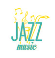 jazz music yellow saxophone music note background vector image vector image