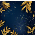 laurel leaves and dust banner with copy space vector image vector image