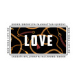 love slogan with chains belts and pendant for vector image vector image