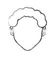 man faceless head vector image vector image