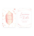 marble wedding invitation card vector image