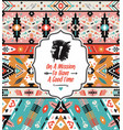 native aztec seamless pattern tribal colorful vector image vector image