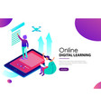 online digital learning landing web page template vector image