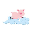 pig with clouds vector image vector image