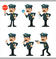 policeman detective different gestures actions vector image