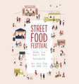 poster flyer template for summer street food vector image