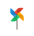 Propeller pinwheel icon flat design