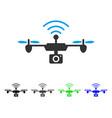 radio camera airdrone flat icon vector image vector image