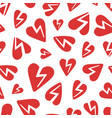 red broken hearts pattern vector image