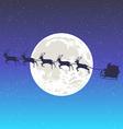 santa and the moon vector image