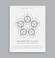 sared spiritual geometric shape vector image