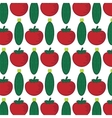 Seamless pattern with abstract vegetables vector image vector image