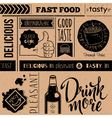 Seamless pattern with fast food symbols vector image vector image