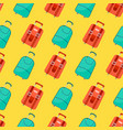 seamless pattern with travel bag with luggage vector image vector image
