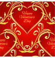 seamless texture happy valentine day heart vector image vector image