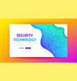 security technology landing page vector image