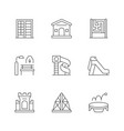 set line icons playground vector image
