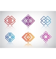 set of abstract colorful icons logos vector image