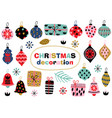 set of isolated christmas decoration vector image vector image