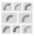 set of monochrome icons with Springs vector image vector image
