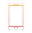 smartphone icon in degraded orange to magenta vector image vector image