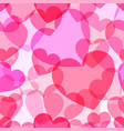 translucent pink heart seamless pattern vector image vector image