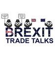 uk trade talks delegation vector image vector image