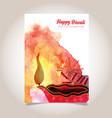 watercolor diwali poster vector image vector image