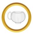 White tea cup icon vector image