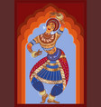 young indian dances national dance she is dressed vector image