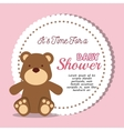 baby shower invitation with cute animal vector image