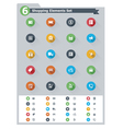 Flat shopping icon set vector image